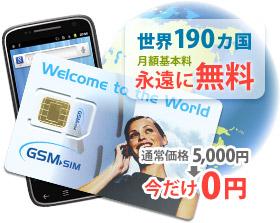 海外携帯電話・SIMカードのモベル ワールドSIM単品