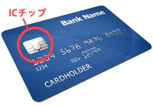 ICチップ付きのクレジットカード