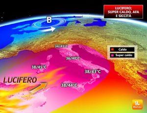 イタリアの天気予想図