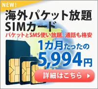 海外SIMカード パケット使い放題